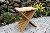 Teak Wood Folding Shower Seat, Bench, Stool -...