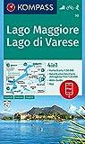 KOMPASS Wanderkarte Lago Maggiore, Lago di Varese: 4in1 Wanderkarte 1:50000 mit Aktiv Guide und Detailkarten inklusive Karte zur offline Verwendung in ... Skitouren. (KOMPASS-Wanderkarten, Band 90)