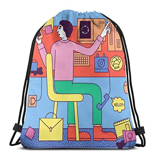 965 Gymsack Revista Jacobina Daypack Gracioso Deporte Mochila Moderno Mochila por Colegio Piscina Viajes Gimnasio 36Cmx42Cm