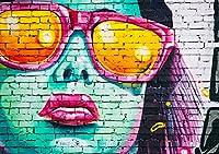 ポスター ウォールステッカー シール式ステッカー 飾り igsticker 728×1030㎜ B1 写真 フォト 壁 インテリア おしゃれ 剥がせる wall sticker poster 018346 グラフィティ 女性
