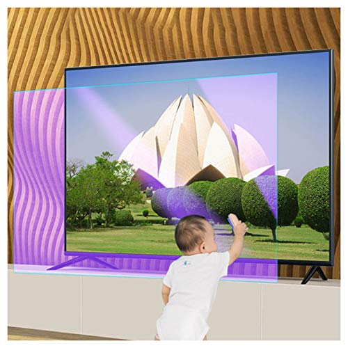 ZWYSL Panel Protector de Pantalla Anti luz Azul para TV de 27-75 Pulgadas - Filtra la luz Azul Que, Alivia el Uso de la Fatiga Ocular de la computadora y te Ayuda a Dormir Mejor