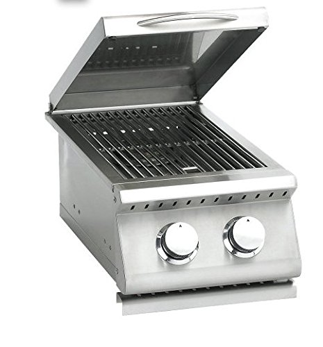 Summerset Sizzler Series Built-In Double Side Burner, Propane Or Natural Gas - SIZSB-2-LP Or SIZSB-2-NG - With Free Grill Cleaning Kit From Premier Grilling (Side Burner - Propane)