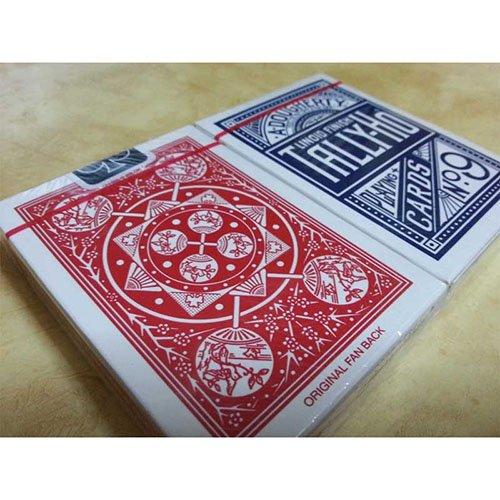 SOLOMAGIA 2 (Due) Mazzi di Carte Tally Ho Fan Back - Dorso Rosso e Blu
