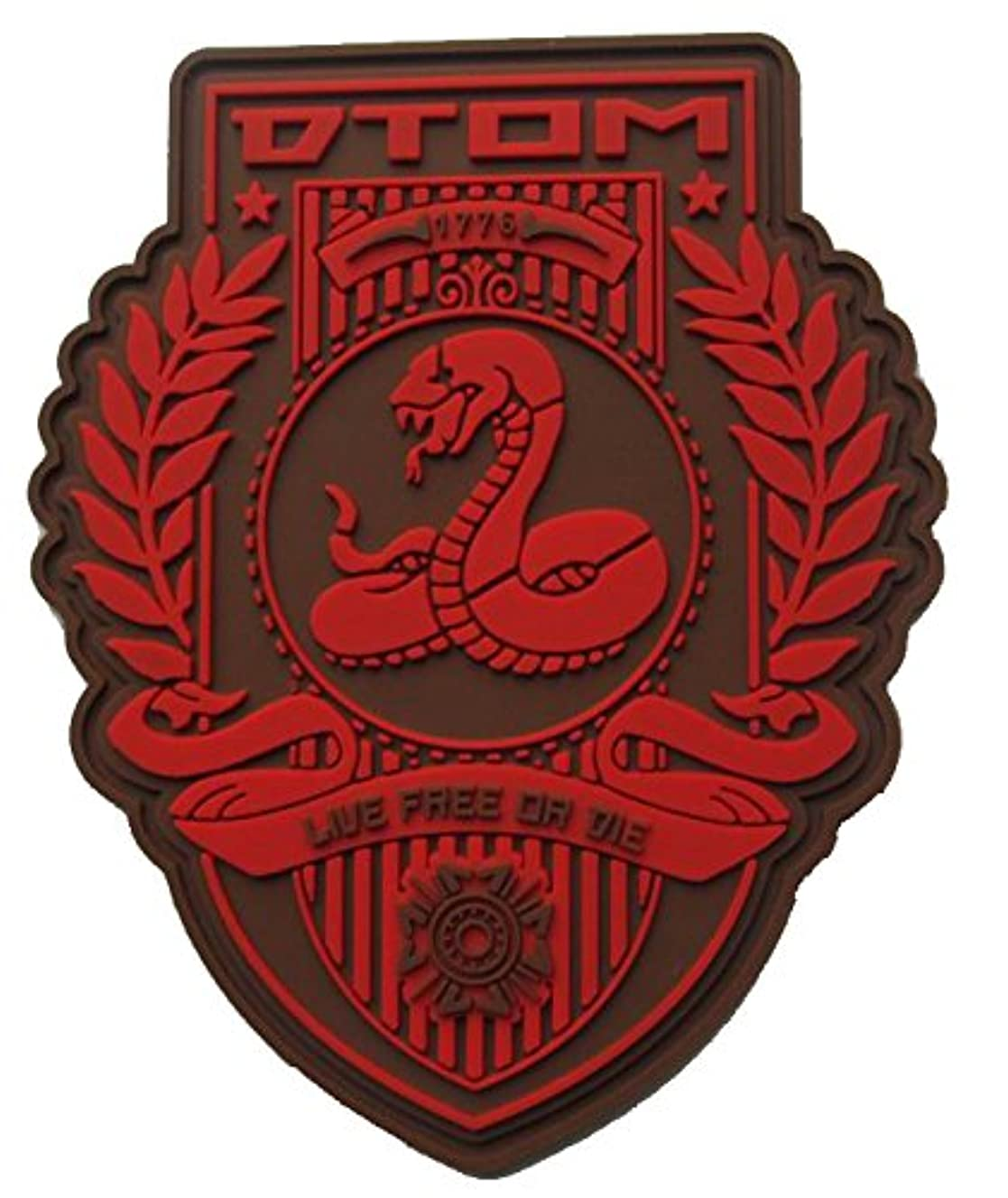 Don't Tread On Me (DTOM) PVC Morale Patch nceto8154
