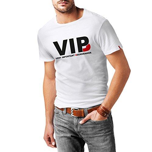 lepni.me Camisetas Hombre Bebedor de Cerveza Muy Importante - Alcohol, Borracho, Citas Divertidas para Beber - Ideas de Regalos chistosos, Ropa de Bar o de Fiesta (XXX-Large Blanco Negro)
