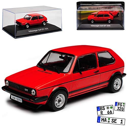 DeAgostini Volkwagen Golf I 1 G-T-I 3 Türer Rot 1974-1983 Nr 02 1/43 Modell Auto