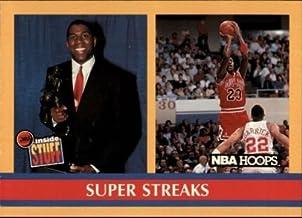 Michael Jordan & Magic Johnson 1990-91 NBA Hoops Super Streaks Card #385! W/H TOP Loader!