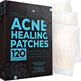 Acne Patches (120 Count) with Tea Tree Oil, Hydrocolloid Pimple Patches for Face - Zit Patch Acne Dots - Cystic Acne Patches Treatment - Pimple Patch with 3 Size Acne Stickers