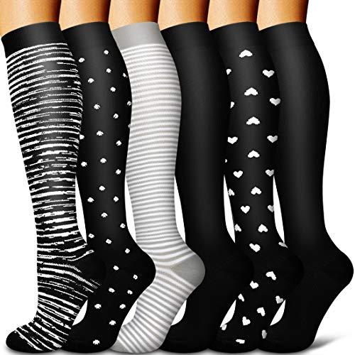 Copper Compression Socks Women and Men-Best for Running,Athletic,Varicose Veins,Nursing& Flight Socks