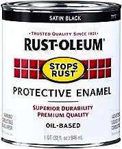 Rust-Oleum 7777502 Protective Enamel Paint Stops Rust, 32-Ounce, Black Satin Finish