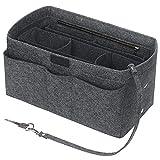 Betoores Handtaschen Organizer Taschenorganizer mit Fächer Geldbeutel-Einsatz Bag in Bag Handtaschenordner,Mittelgrau - M