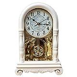 LULUVicky Mantle - Reloj vintage para decoración de sala de estar, dormitorio, escritorio, decoración del hogar (tamaño único; color: C)