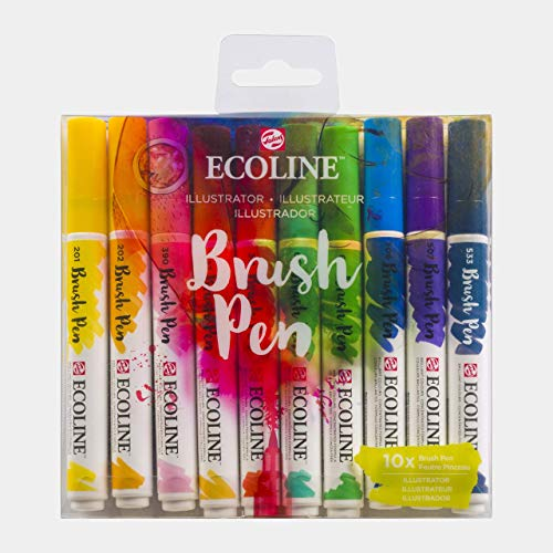 Ecoline Brush Pen Set of 10, Illustrator Colors (11509807)