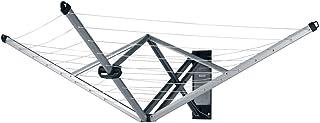 Brabantia WallFix Tendedero Plegable con Funda de Protección, Metal, Gris, 0 cm