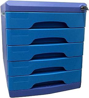 Nologo SH-CHEN Desktop Drawer Sorter Lockable Data Office Storage Drawer Confidentiality Office Desktop Drawer Organizer (Design : 5 Layers 10.8in14.4in12.4in) File Cabinets