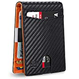 Zitahli Mens Slim Wallet Larger Capacity with 12 Slots RFID Blocking Minimalist Bifold Front Pocket Wallet for Men with ID Window