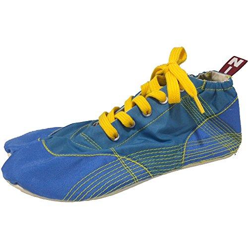 [無敵] ランニング足袋 伝統職人の匠技が創り出すランニングシューズ《008 サックスブルー》 (22.0)