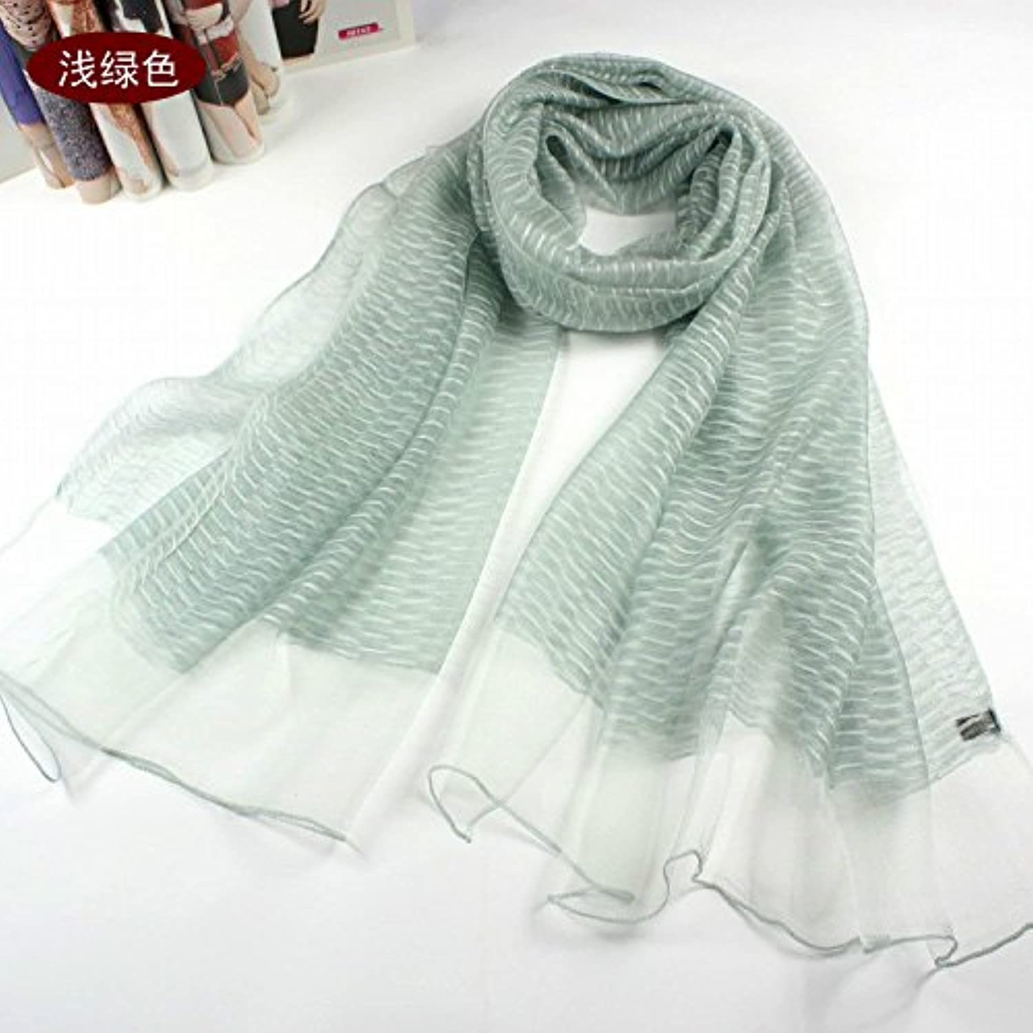 FLYRCX New Lady Mulberry Silk Silk Scarf Long Multi use Shawl Soft and Comfortable Scarf 200cmx80cm