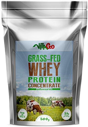 Vita-Go Grass-Fed Whey Protein, Weidehaltung, 100% Natural Crossflow Whey (Natural)