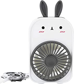 Mini Fan, Rechargeable Summer Cooling Tool, 2 Wind Modes Adjustable Portable Air Circulator for Office(Ivory)