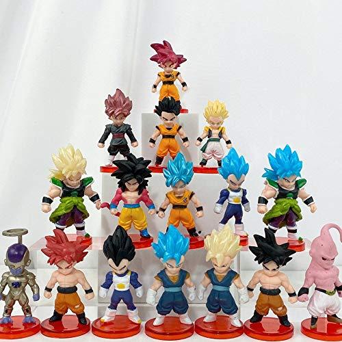 16 Piece Dragon Ball Z Action Figure Set Cake Topper, Party Favor Supplies 3 inch Dragon Ball Z Collectible Model