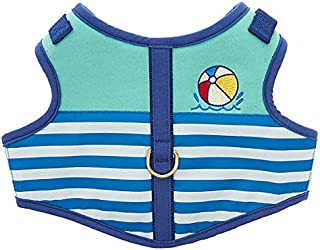 ED Ellen DeGeneres Blue Pool Party Vest Dog Harness~Small~