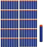 StillCool 100pcs Mousse Fléchettes Recharge Balle de Nerf pr N-Strike Elite Blasters Pistolet Jouet Darts Refill Bullet for Toy Gun(Bleu)