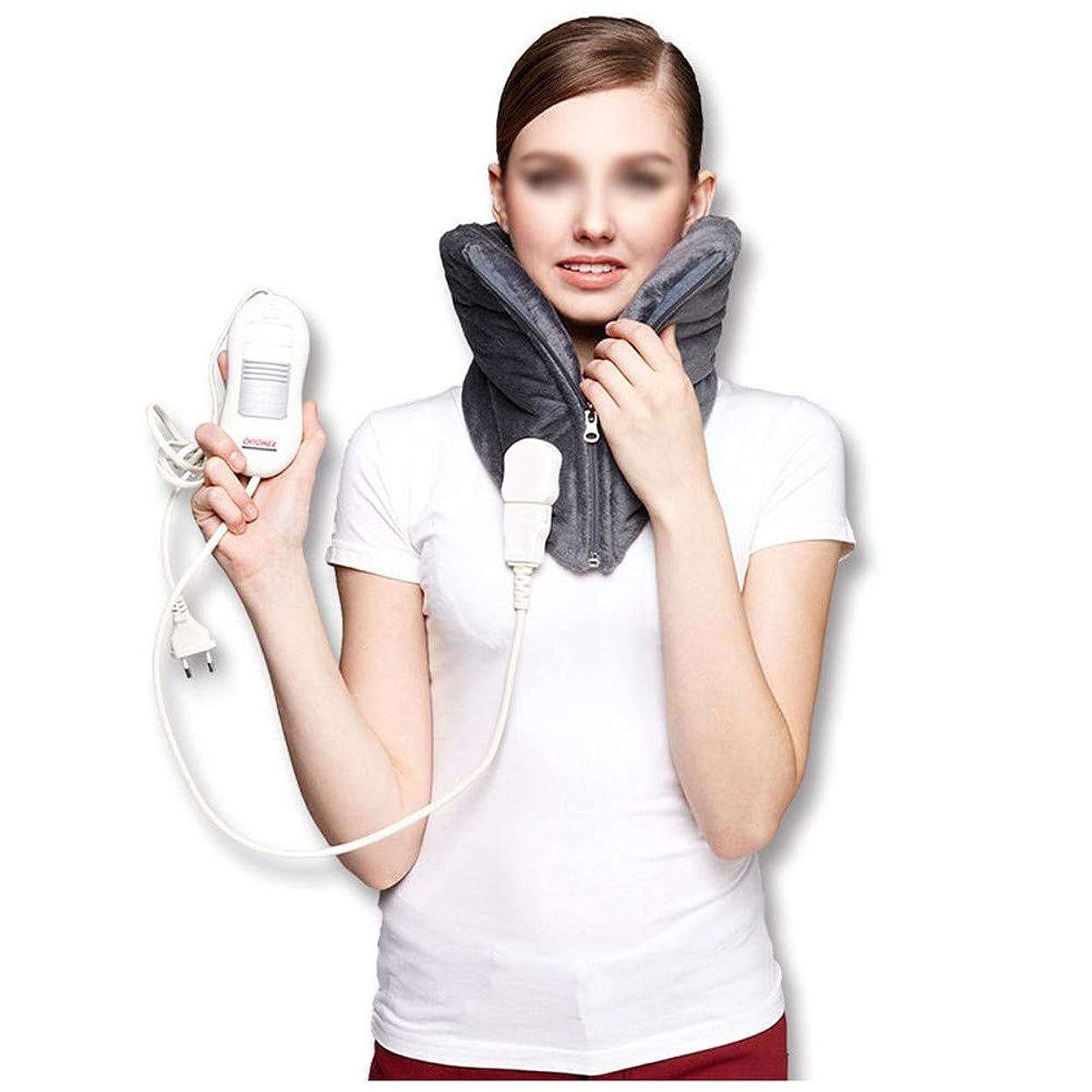 職業ハイライト前に頚部の電気ヒーターパッド - 暖かい頚椎のヒートパッド、自動電源オフ、洗える、3速度一定温度、高齢者の痛みを軽減するマッサージャー