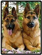 TSlook 40x50 Blankets Funny Cute Pet German Shepherd Dog Comfy Funny Bed Blanket