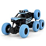 RC Car, 6 Wheel Drive Remote Control RC Crawlers Off Road Monster Truck - 1/20 Crawler Buggy Racing Car RC Model Toy for All Adults & Kids(Blue)