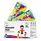 WeCare Disposable Face Masks For Kids, 50 Tie Dye Masks, Individually Wrapped