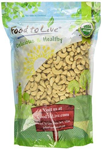 Organic Cashews, 4 Pounds - Whole, Unsalted, Non-GMO, Kosher, Raw, Vegan, Bulk