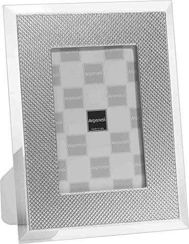 Argenesi Vetro Pictureframe filigrana 10x 15cm, Taglia Unica, Colore Argento