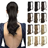 Sofeiyan Curly Ponytail Extension 15 Inch Heat Resistant Synthetic Natural Wavy Hairpiece Wrap Around Pony Tail Hair...