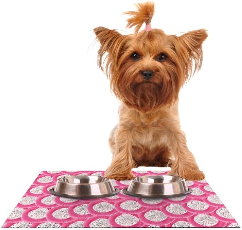Kess InHouse Akwaflorell Oho Boho  Feeding Mat for Pet Bowl, 18 by 13Inch