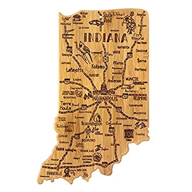 Totally Bamboo Indiana State Destination Bamboo Serving and Cutting Board