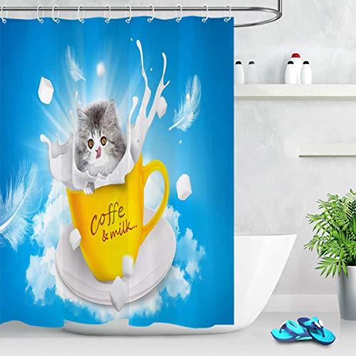 cortinas baño de gatos