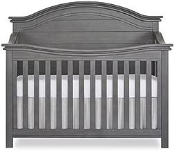 Evolur Belmar Curve 5-in-1 Convertible Crib in Rustic Grey, Greenguard Gold Certified