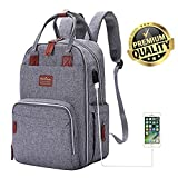 Diaper Bag Backpack, Multifunction Travel Back Pack Maternity Baby Nappy Changing Bags, Large