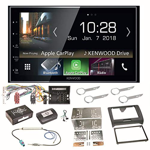 Kenwood DMX-7018BTS CarPlay Android Auto Bluetooth Autoradio Moniceiver Touchscreen USB MP3 Einbauset für Audi TT 8J