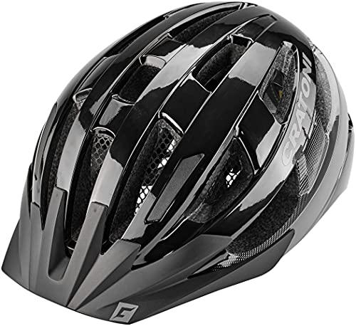 Cratoni W2015084000, 707872VAR-Casco Ciclismo Velo-X Urban Colore Blanco Mate Taglia Nero Unisex Adulto, 52-57