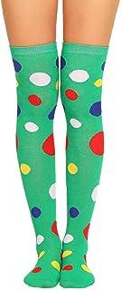 TIGERROSA, Calcetines Para Mujer Calcetines De Rodilla A Rayas Sexys Cálidos Y Largos A La Moda Para Mujer Medias De Algodón Hasta La Rodilla Medias Verdes