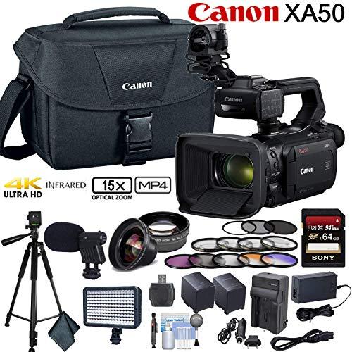 Canon XA50 Professional UHD 4K Camcorder Advanced Bundle