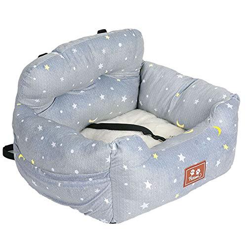 wenyujh 2-in-1 Autositz Bett für Hunde Hundesitz Hundebett wasserfest rutschfest Autokörbchen Hundedecke Hundekorb Sitzerhöhung für Rückbank (60 * 56 * 30, Stern)
