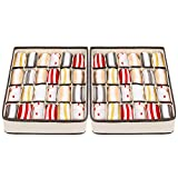Joyoldelf - caja de almacenamiento plegable para cajones - 2 paquetes - 24 compartimentos - organizador para ropa interior, guardar calcetines, sujetadores, pañuelos