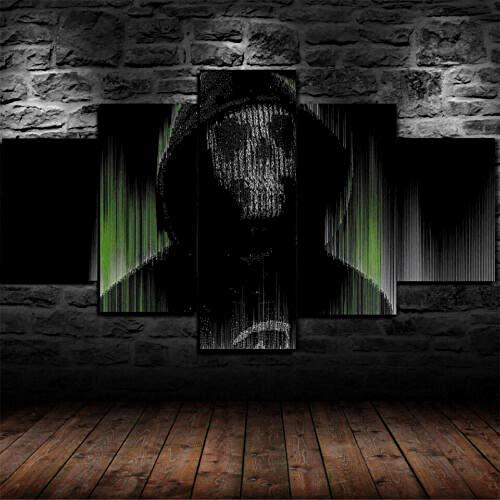 60Tdfc canvasdruk Wall Art Wallpaper afbeelding 5 canvas schilderij pixels man hacker spel Hd woonkamer decoratie poster