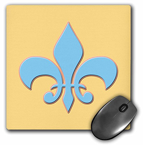 3dRose LLC 8 x 8 x 0.25 Inches Mouse Pad, Scotland Flag, Coat of Arms and Motto Pattern On Light Blue Background (mp_165739_1)