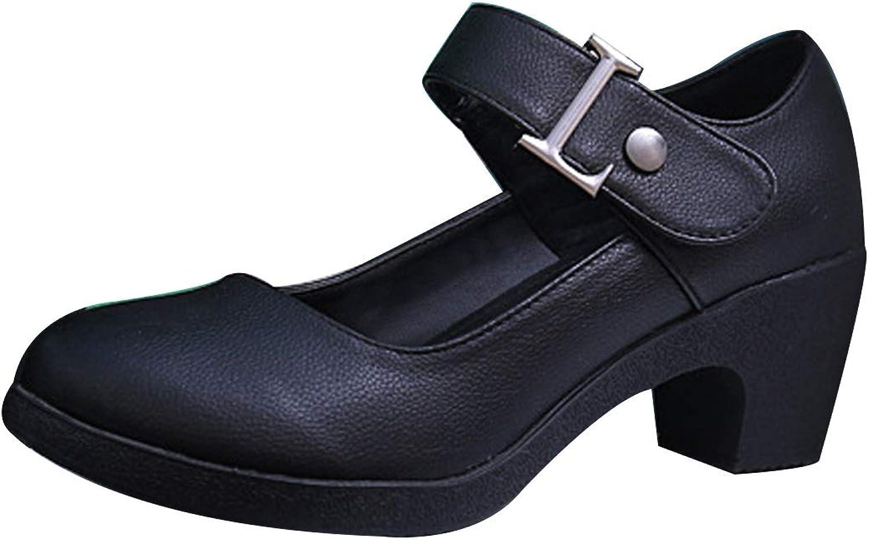Huicai Dancing shoes Womens Round head fashion Thick heel Modern dancing shoes