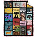 Flannel Fleece Soft Lightweight Throw Blanket Dachshund Dog 3D Printed Pattern for All Season Blanket Perfect Home Decor for Couch Bed Chair Sofa Living Room XS 40x30inche
