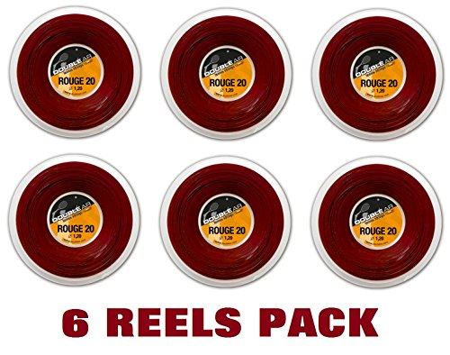 Double AR–Seil Tennis Rouge 20, Monofilament co-poliestere 1.20mm, rot, rot